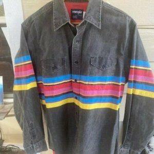 Vintage 90s Wrangler Western sunset stripe shirt